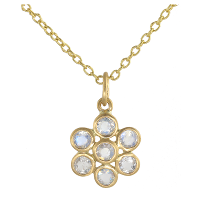 Moonstone Small Flower Pendant