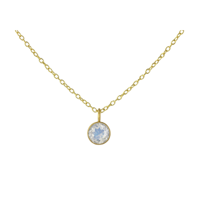Moonstone Small Round Pendant