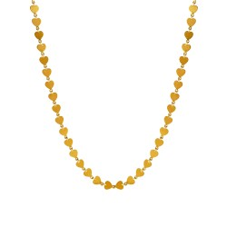 Heart 22k Sequin Chain