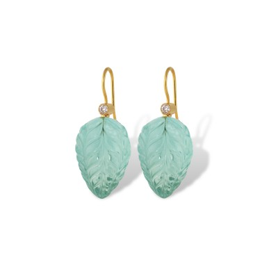 Green Bud Earrings